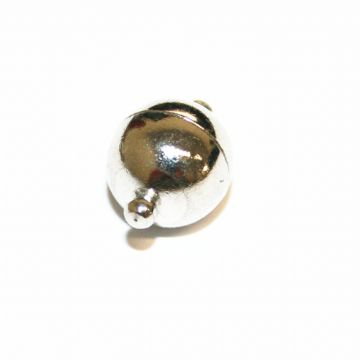 1pce x 10mm Rhodium plated round shape magnetic clasp